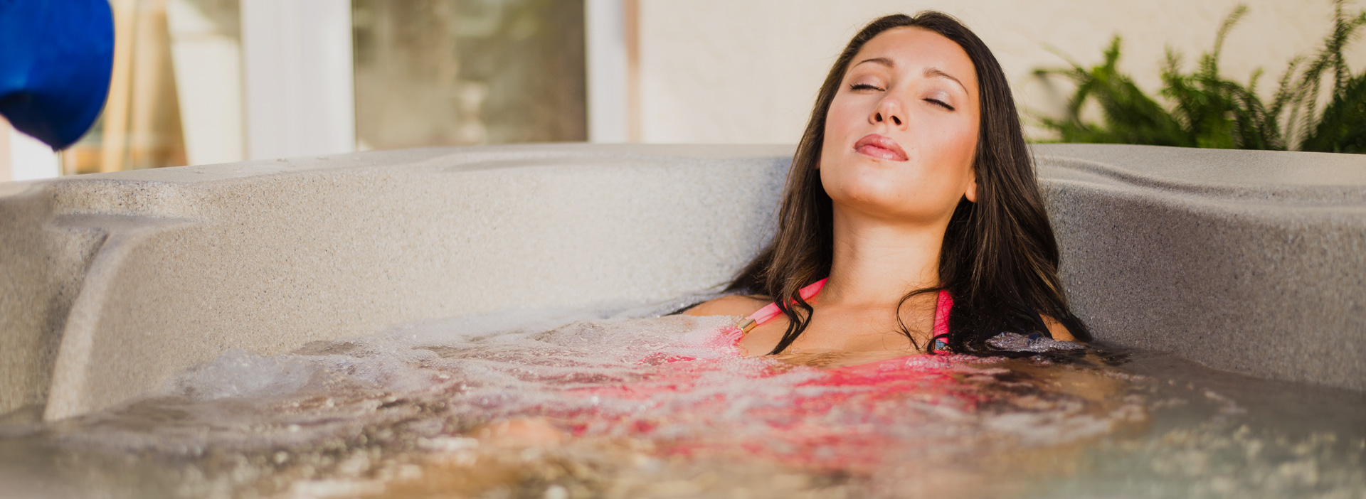 Woman Lying Back in Fantasy Spa